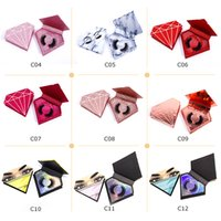 eyelashes packaging box fake lash window magnet natural wispy lashes support customization