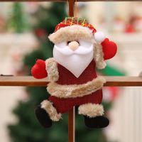 Christmas Decorations Doll Dancing Old Man Snowman Deer Bear Fabric Puppet Hanging Pendant For Xmas Navidad Noel Tree Ornament