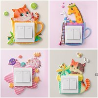 Switch sticker soft glue luminous unicorn 3d stereo Wall Stickers socket protective cover simple decorative DHE9905