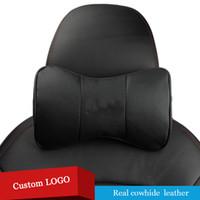 Logo personnalisé 1 paire Côte d'automobile en cuir véritable Coussinet de siège auto avec trous respirants pour Nissan Murano Sentra Sylphy Tiida Ctr