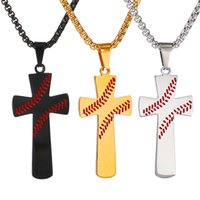 Cross Pendant Necklace Stainless steel 4:13 bible baseball religious Christ Necklace Brief Chains Pendant Necklaces