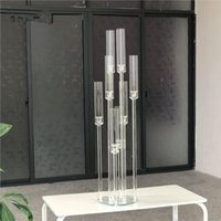 Candle Holders Crystal Candlestick Acrylic Cylinder 8 Arms Centerpiece For Wedding Candelabra Center Pieces AB0039