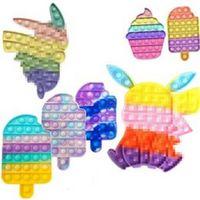 2021 Rabbit Fidget Push Desktop Toy Puzzle Tabletop Decompression Board Finger Bubble Sensory Educational Toys