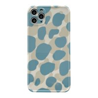Fashion Blue Leopard Skin Green Cases For Iphone 12 MINI 11 Pro Xs MAX XR X 8 7 Plus SE2 Soft Phone Case Protective Back Cover 100pcs