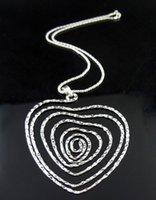 Colares pingentes mulheres curvadas folha de metal oca out circel Coração quadrado Colar