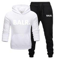 İki Giysi Parçaları Balr Setleri Yeni 2021 Hoodies + Pantolon Moda Marka Set Erkekler Tişörtü Spor Kapşonlu Sonbahar Hoodie Tracksuit FVXod