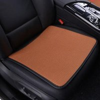 Car Seat Covers Front Artificial Ice Silk Design Anti Skid Breathable Universal Interior Accessories