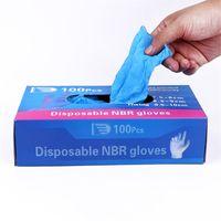 100 pcs Luvas de exame de nitrilo descartável pó antiderrapante livre não látex não vinil luvas de mão descartável prevenir a infecção segura 201207