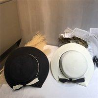 Zusammenklappbare Urlaubsstrand Hüte Hohe Qualität Sonnenhut Womens Breitrand Hüte Flut 2 Farben Fischerhüte Freies Verschiffen