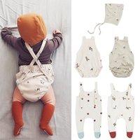 ENKELIBB Neugeborene Baby Schöne Baumwolle Ein-Stücke Jungen Mädchen Sommer Herbst Hohe Qualität Säuglingsgurt Strampler 210309