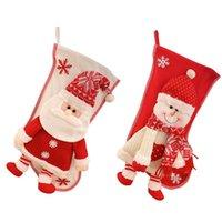 Christmas Decorations Decoration With Snowman Santa Candy Bag Elk Bear Stockings Year Knitting Fabric Printing Xmas