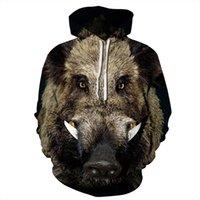 Wild Fashion Boar 3D Hip Hoodies Women Animal Printed Hop Long Pullover Sleeve Fall Sweatshirts EU Spring Men Tracksuit Size Cljdv