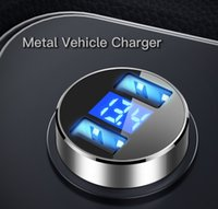 2 Ports USB Car Charger 24V Quick Mini Fast Charging For iPhone 12 Xiaomi Huawei Mobile Phone Adapter Android Devices Interior Products
