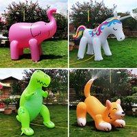 PVC Şişme Su Sprey Hayvan Oyuncak Su Sprey Unicorn Köpek Dinozor Fil Yağmurlama Yaz Yarı veya Açık Su Oyunu