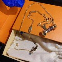 Halsketten Schmuck Mode 18K vergoldete Kreisspeicher Anhänger Halskette Bling Zirkon Gepflasterte Hip Hop Halsketten mit Kasten