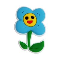 Customized Soft Glue Pen Stickers Cartoon Flowers Slippers Holes Shoe buttons Accessories
