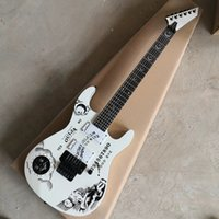 New Arrival 6 Strings White Moon Goddess Electric Guitar with Floyd Rose,Roseood Fretboard