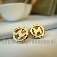Charms DIY handgemachtes flaches Goldausschnitt-Buchstabe H-SHIRT-Kleidernähendekoration Mini-Button-Zubehör 12pcs los