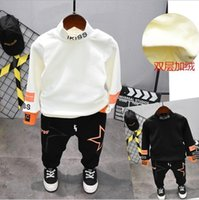 Clothing Sets Autumn Winter Boys Cothing Kids Thickening T-Shirt , Plush Pants 2pcs Suits Children Tracksuit 2-7years