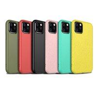 Écailles de téléphonie biodégradable biodégradable biodégradable pour iPhone 12 11 Pro Max XR XS 8 7 6 Plus Samsung S21 S20 Note20 Ultra 2.0mm Soft TPU Silicone Coque Coque Coque
