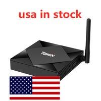 Nave da USA TX6S TV Box TV Allwinner H616 Quad Core 4G 32G Dual WiFi BT Android 10 OS 4K H.265
