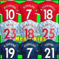 Manchester 2021 2022 Fußballtrikots VEREINIGTE CAVANI UTD VAN DE BEEK B. FERNANDES RASHFORD Fußball trikot 21 22 Mann + Kinder-Kit HUMANRACE UNITE Vierter Fußballtrikot