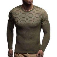 Hombre diamante patrón tejido suéteres moda tendencia de moda manga larga cuello redondo suéter suéter diseñador masculino otoño delgado ocasional fondo tops