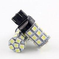 10 pçs / pack hotsale t20 7443 W21 / 5W T20 7440 5050 27smd luz LED lâmpada lâmpada auto carro travar a lâmpada traseira