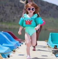 Надувные плавать плавать поплавки дети плавательный жилет мальчик девушки лифт жилет буй милый мультфильм детское плавание кольцо водяной спортивный матрас игрушка