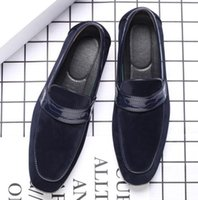 Dress Shoes Style Trend Men Classics Suede Mixed Slip On Oxford Formal Male Wedding Prom Homecoming Sapato Social Masculino