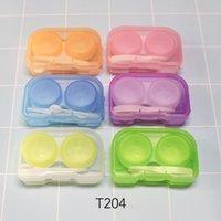 Couleur aléatoire Mode Poche transparente Pochette Plastique Contact Kit de voyage Easy Prendre le porte-conteneur