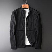 Men's Jackets Handmade Lace Design Fashion Small Stand Collar Jacket Coat Autumn Texture Lightweight Top