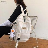 Backpack Tide Ins Girls Women Couple Kawaii School Bags For Teens Female Korean Harajuku High Student Woman 2021