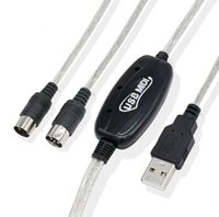 2M متفوقة USB ذكر إلى ميدي ذكر usb داخل واجهة ميدي محول كابل الكمبيوتر إلى الموسيقى لوحة المفاتيح محول الحبل لتحرير برنامج الموسيقى SN2034