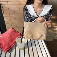 Cosmetic Bags & Cases Corduroy Women Bag Cotton Cloth Makeup Pouch Hand Travel Lipstick Organizer Fashion Zipper Clutch Phone Purse