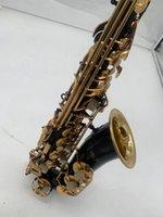 Alto Saxophone في E Flat Black Lacquer Gold Keys مبتدئين يلعبون الترفيه