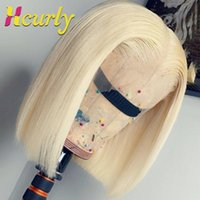 Lace Wigs Xcurly 613 Honey Blonde Bob Wig Front 150% Density Straight Short Brazilian Human Hair Frontal For Black Women