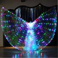 Decorazione del partito Halloween Performance Pronia Pancia Belly Dance Accessory Light Up 360 gradi Costume alette Farfalla Wings Luci Starry Twinkling