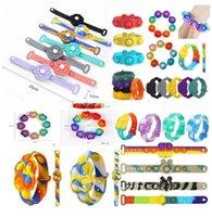 Puzzle del portachiavi del giocattolo del partito del partito di decompressione Per alleviare l'irrequietezza, premere il braccialetto del braccialetto del braccialetto dei giocattoli del silicone della bolla del dito