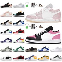 Top Fashion Jumpman 1 1s Low Womens Basketball Shoes Mens Trainers Paint Drip Pinksicle Panda Chicago Flip Luxurys Designers Sneakers Dio