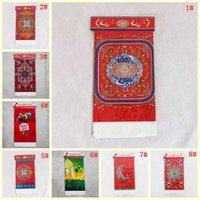 레드 그린 108 * 180cm 일회용 플라스틱 식탁보 Eid 라마단 테이블 커버 이슬람 장식 방수 식탁보
