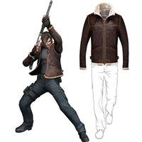 Biohazard Resident 4 Leon S Kennedy Evil Kostüm Leder Mantel Cosplay PU Faure Jacke Langarm Winter Oberbekleidung Männer Junge