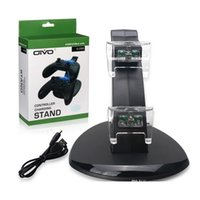 LED Dual Charging Stand PS4 USB Caricabatterie Dock Station per PlayStation DualShock 4 Xbox One Controller Gamepad Supporto per montaggio
