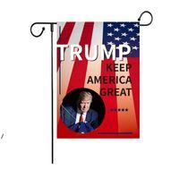 30 * 45 cm Trump 2024 Kampagnengarten Flagge Dekoration Banner Kostenlose Lieferung DWD8271
