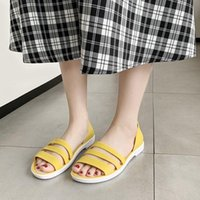 Sandals Women Summer Flat 2021 Open-Toed Slides Slippers Candy Color Casual Beach Outdoot Female Ladies Jelly Shoes