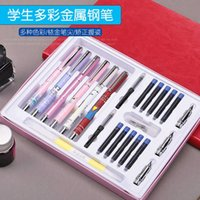 Füllfederhalter Hero Student Stift 6 Packung Set mit löschbaren Stiftkopf Tintenbeutel Pen Tip Student Name