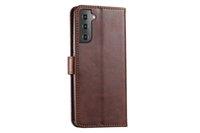Étui de portefeuille de téléphone Portefeuille de portefeuille rétro Plaque de coiffe de téléphone portable Slots de carte de crédit pour Samsung S21 Plus S20 Ultra S10 Lite Note 20 Ultra Note 10 9 8