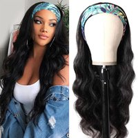 Fashion Brazilian Body Wave Headband Wig Natural Color 180% Density Synthetic Wigs For Black Women