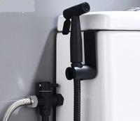 2021 Горячие Продажи Черный Женский Стиральный набор Туалет Партнер Phinking Распылительный пистолет Европейский 3/8 Смеситель для душа Одно в двух выходных водах