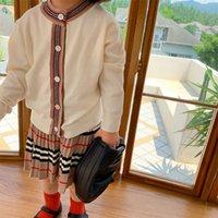 Inverno Outono New Girls Roupas Set Meninas Camisola e Saia Plissada 2 Pcs Crianças Terno Meninas Outfit x0923 531 y2